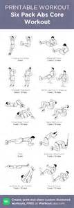 six pack abs workout my custom printable workout by
