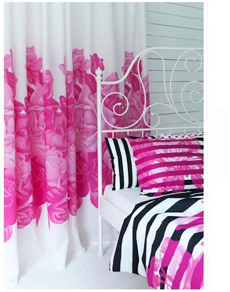 floral curtains ikea ikea myrlilja curtains drapes pink floral retro limited