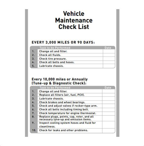 sle workshop registration form template preventive maintenance checklist for semi trucks best