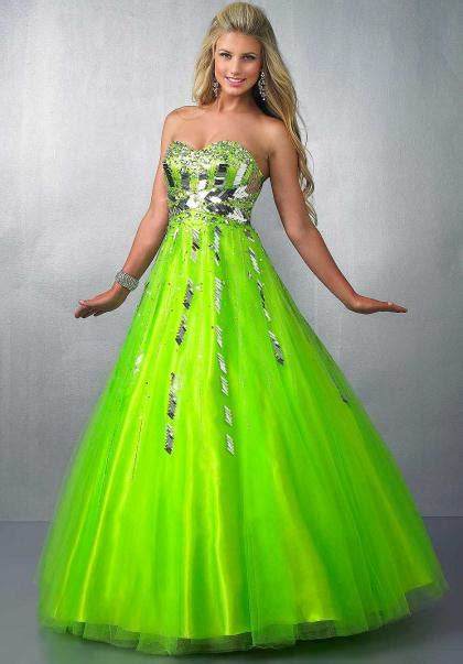 Bright Green Prom Dresses - green prom dresses dressed up