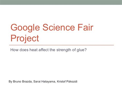 glue science fair project how does heat affect the strength of glue