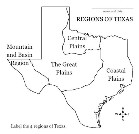 texas four regions map saladogt regions of texas unit