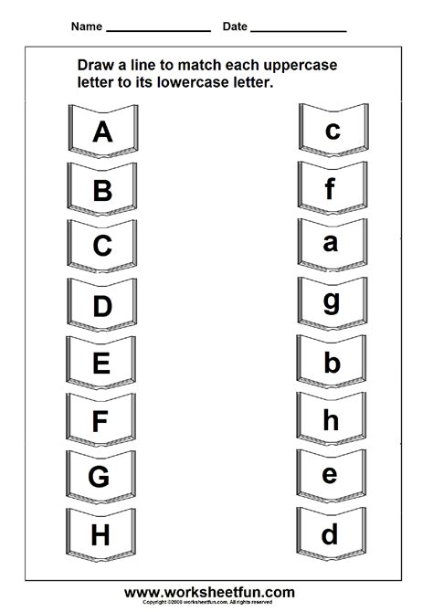 printable upper and lowercase letters of the alphabet match uppercase and lowercase letters 11 worksheets