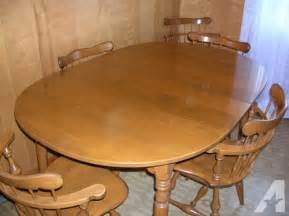 Maple Dining Room Table Ethan Allen Solid Maple Dining Room Table And Six Chairs For Sale In Bluff City Tennessee