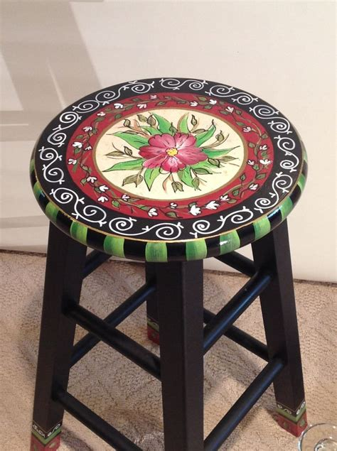 Painted Counter Stools by Best 25 Painted Stools Ideas On Painted