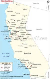 maps california cities map of major cities of california beachy