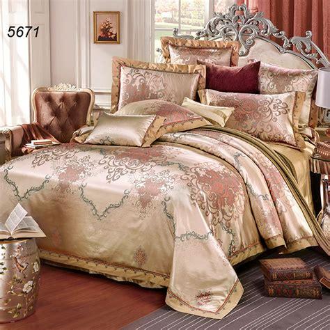 luxury beige camel tencel silk bedding set tribute