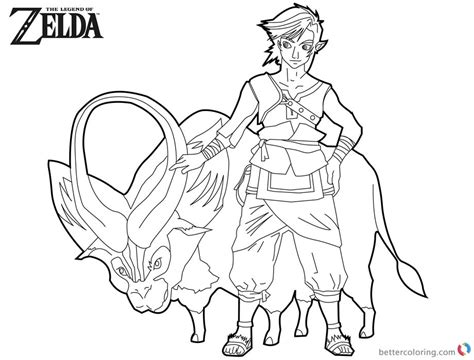 link coloring pages legend of coloring pages link with ganon free