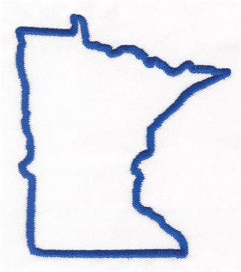minnesota outline embroidery designs machine embroidery