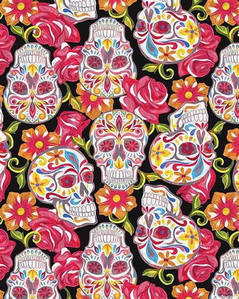 Iphonen 6 6s Plus Skull Sugar Owl Wallpapers Casing Hardcase festive sugar skulls resting in roses quilt fabrics from www equilter holidays