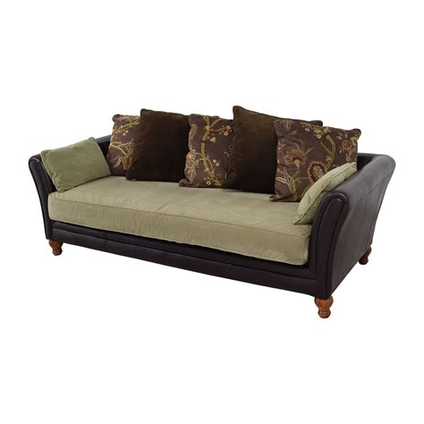 90 leather and suede three seat sofa sofas