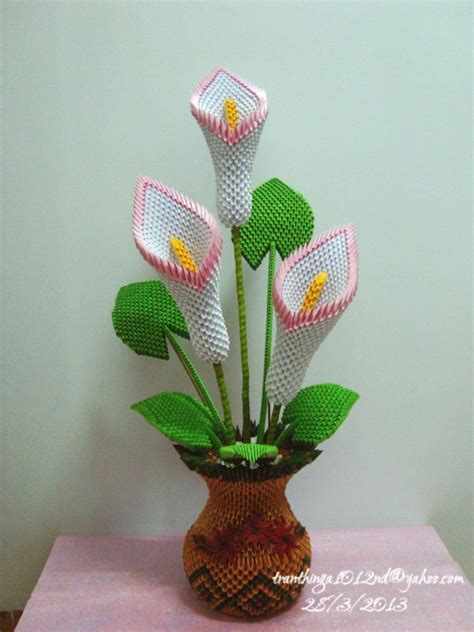3d Origami Flower - 3d origami calla lil album nga 3d origami