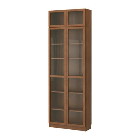 Glass Bookshelf Billy Bookcase With Glass Doors