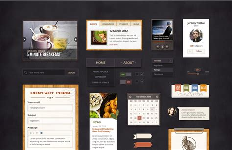 coffee shop ui design win 1 of 3 annual subscriptions to pixelkit premium ui