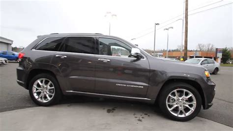 jeep cherokee grey 2014 jeep grand cherokee summit gray ec371317 mt