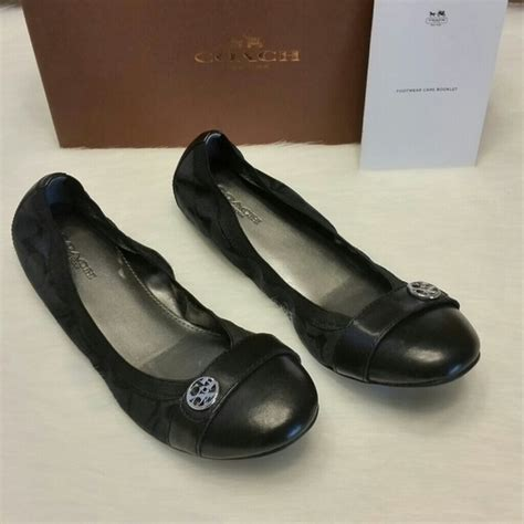 coach flat shoes sale coach shoes 1 hour sale blackblack ballet flats poshmark