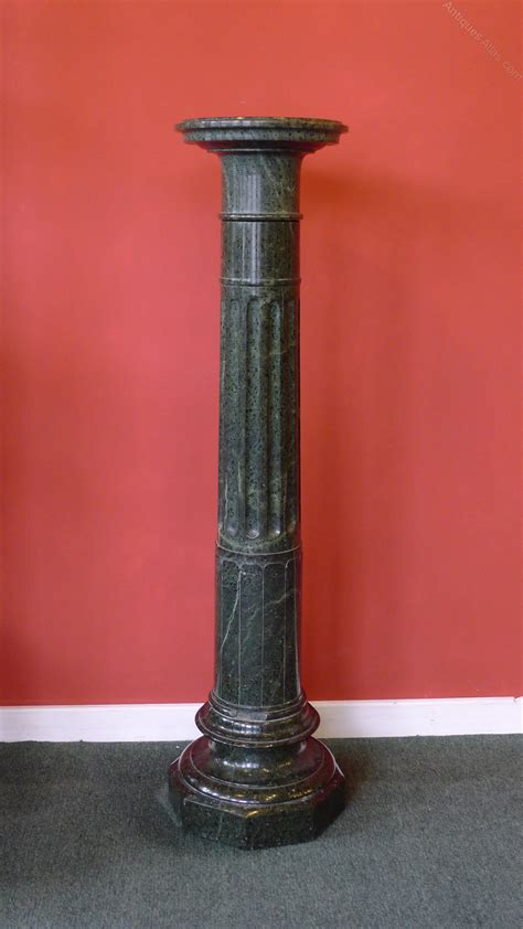 decorative 19th c marble pedestal column antiques