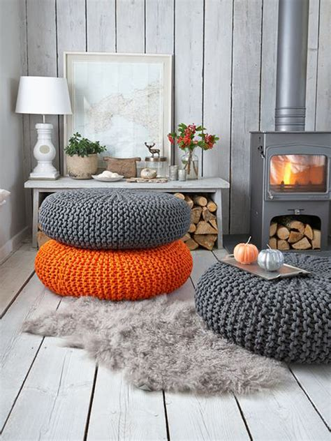 living room pouf furniture cool living room design with fireplace and knit