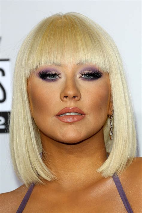 aguilera s hairstyles hair colors