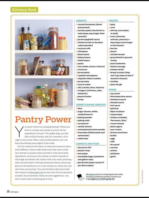 pantry stock up list cooking tips and tricks