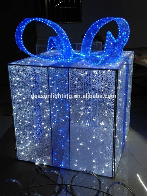 3d gift box outdoor christmas lights