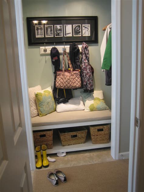 Closet Turned Mudroom by Photos Diy Closet Turned Mudroom Cheap Diy Closet