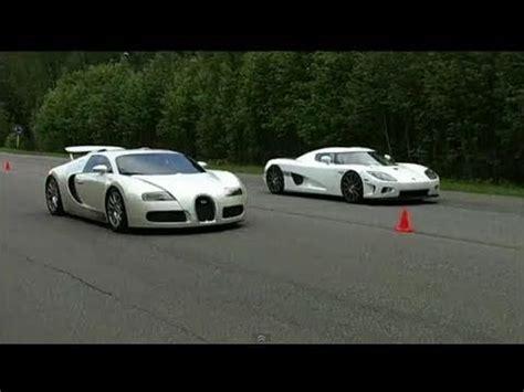 Koenigsegg And Bugatti Bugatti Veyron Vs Koenigsegg Ccxf 60 310 Km H