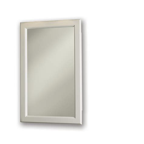 lowes recessed medicine cabinet shop broan prairie 27 375 in h x 17 375 in w classic white