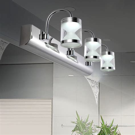stainless steel bathroom light fixtures modern bathroom stainless steel led bathroom make up