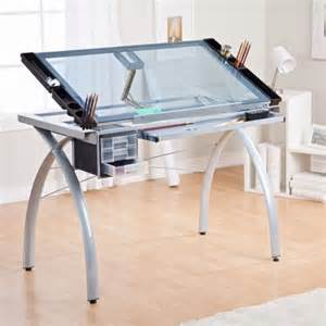 Glass Top Drafting Drawing Table 18 Drafting Tables In Interior Designs Messagenote