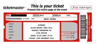 Concert Ticket Template concert ticket template lisamaurodesign