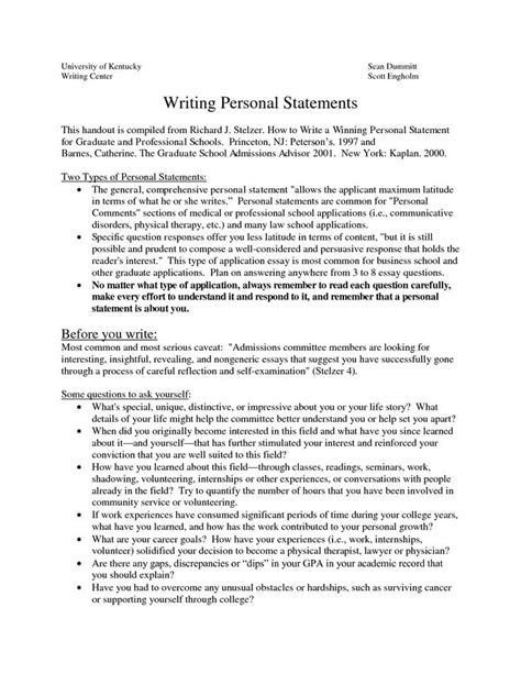 graduate school personal statement sle essays how to write a personal statement for med school