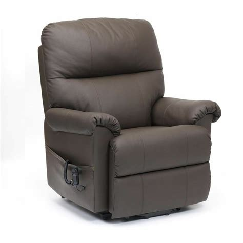 Mobility Reclining Chairs by Restwell Borg Leather Rise Recliner Electric Mobility