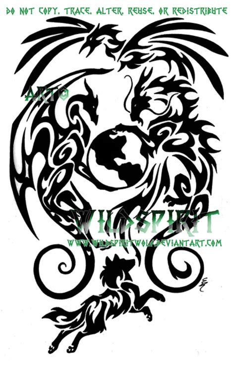 earth dragon tattoo designs best tribal gallery horseshoe designsfree
