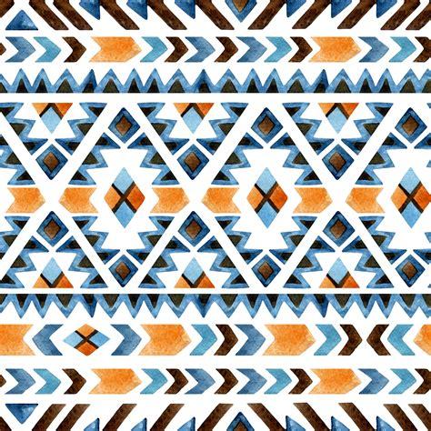 abstract aztec pattern aztec watercolour seamless pattern custom wallpaper