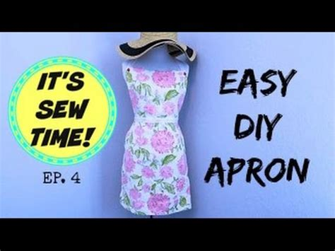 sewing apron youtube diy apron beginner sewing project youtube