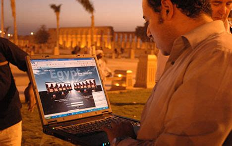 egypt gets connected | daily mail online
