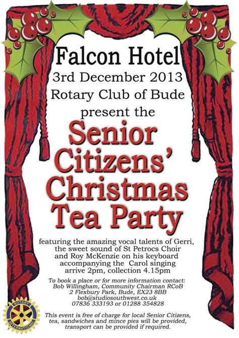 bude senior citizens christmas party bude and beyond
