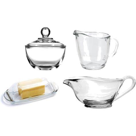 gravy boat glass glass set of gravy boat butter dish creamer sugar