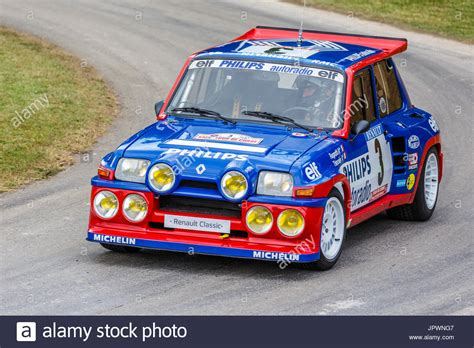 renault turbo rally 1985 renault 5 maxi turbo rally car with driver jean