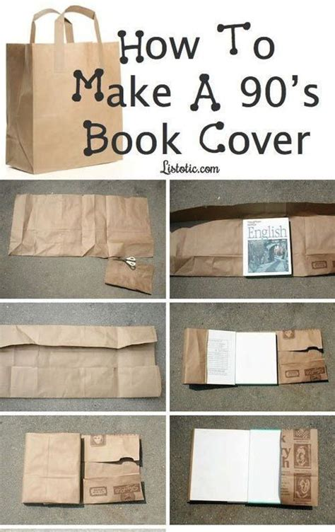 How To Make A Book Cover Out Of Paper - how to make 90 s book covers crafts