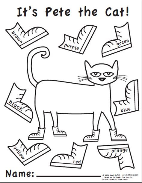 pete the cat coloring page shoes elementary music methods real life edition october 2012