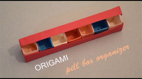 Origami Pill Box - origami i pill box organizer i how to make a pill box