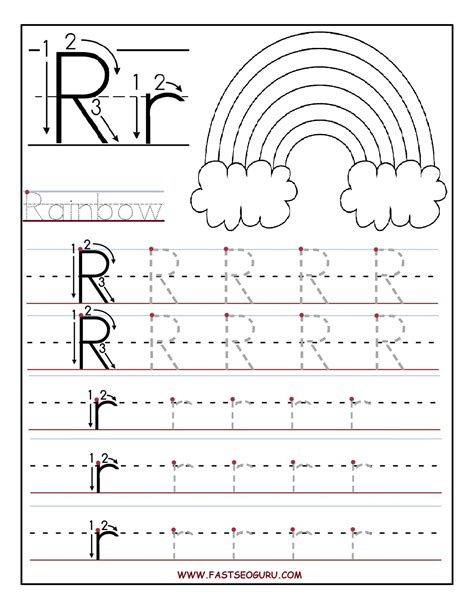 printable worksheets letter r worksheets for preschool kindergarten printable