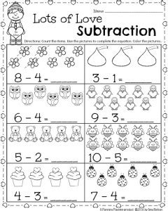 preschool mathematics an examination of one program s kindergarten math and literacy worksheets for february