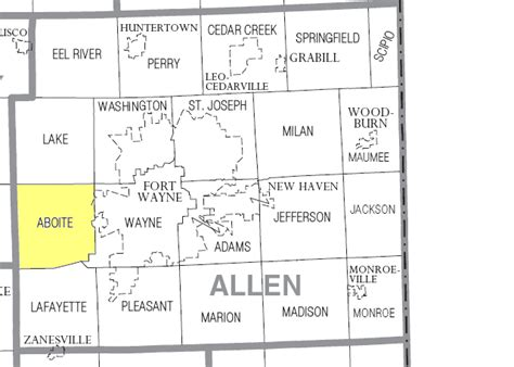 Allen County Ohio Property Records File Aboite Township Allen County Indiana Png