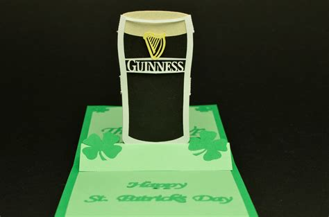 pop up card st s day pop up card guinness glass tutorial