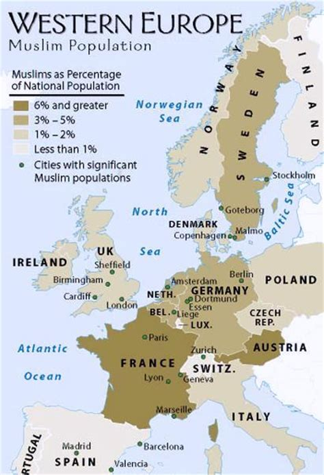 which territory has the least muslim population in the 38 maps that explain europe vox