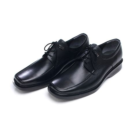 mens square toe stud cow leather dress shoes