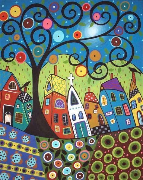 color pattern art arte naif buscar con google naif folk country